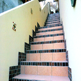 タイル階段の施工事例